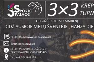 3x3 Krepšinio turnyras HANZA Dienose!