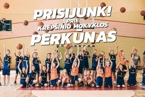 """""""Perkūno"""" krepšinio mokykla kviečia sportuoti vaikus ir jaunimą!"""